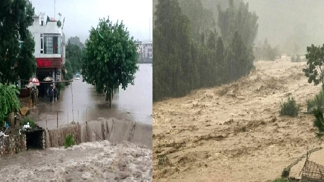 THƯƠNG MIỀN TRUNG: Đón 2 đợt mưa lớn kéo dài gây lũ lịch sử 63 năm mới thấy